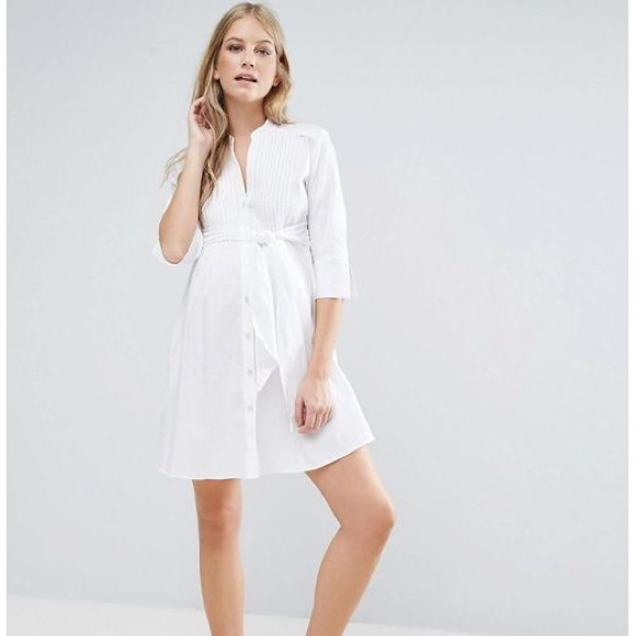 648d6d0bbf528 isabel oliver Dresses & Skirts - Isabella Oliver Maternity Shirt Dress w/ Tie  Waist